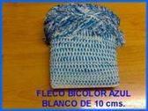 VENDO PIEZA DE FLECO BICOLOR AZUL-BLANCO PARA GAITAS