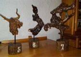 esculturas madera reciclada