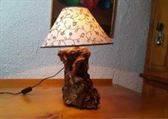 lampara madera reciclada