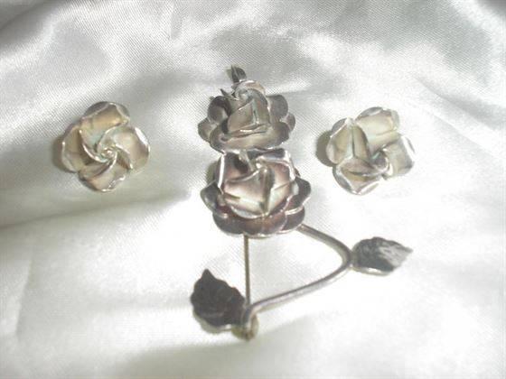 conjunto de plata, 4 piezas artesanal
