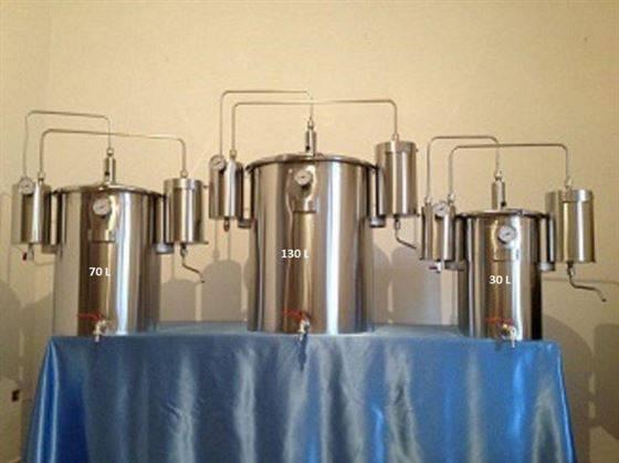 Alambique acero inoxidable nuevo diseño y nuevos accesorios.