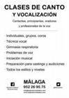 Clases de canto. Técnica vocal. Málaga. Curso 2017/18