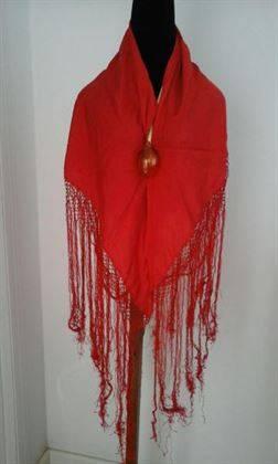 Pañolillo de gitana mujer rojo