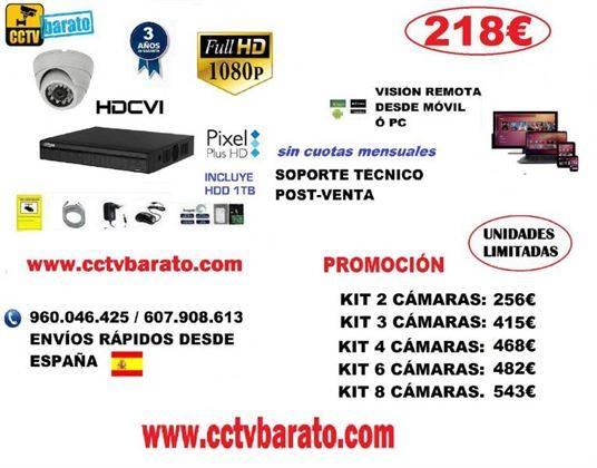 Oferta kit videovigilancia interior FULL HD 1080P