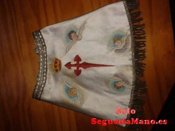 Manto Virgen del Pilar con cruz jacobea