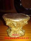 Peana dorada de resina para imagen religiosa