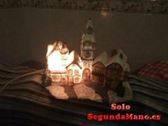 Casa navideña con luz eléctrica
