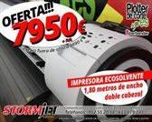 Impresora ecosolvente profesional con doble cabezal StormJet SJ7180 TS II