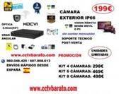 Oferta kit videovigilancia exterior 94º HD