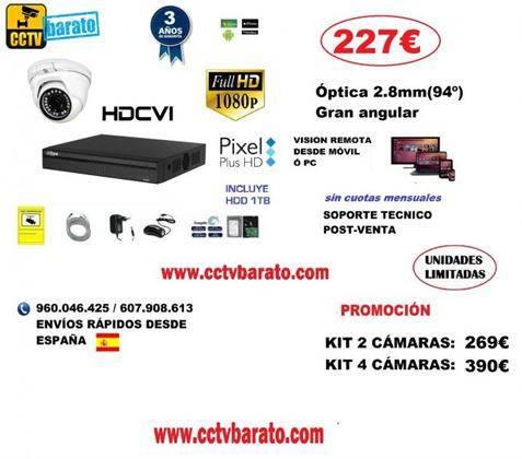 Oferta kit videovigilancia INTERIOR 94º FULL HD
