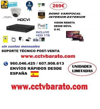 Oferta kit videovigilancia Domo Varifocal HD