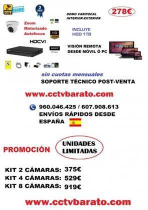 Oferta kit videovigilancia Zoom Motorizado HD