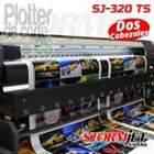 STormJet SJ-320 TS plotter de impresion ecosolvente de 320 cm tiene 2 cabezales DX5