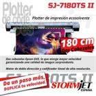 Nueva impresora ecosolvente de 180 cm con 2 cabezales StormJet SJ-7180 TS II profesional