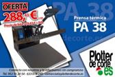 Prensa termica PA38 plancha 38x38 cm vinilo textil transfer sublimacion OFERTA LIMITADA