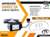 Impresora UV plana mesa de impresion profesional 90x120 cm impresion directa