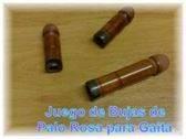 VENDO JUEGO DE BUJAS DE PALO ROSA PARA GAITA