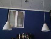 4 lamparas barra cafeteria
