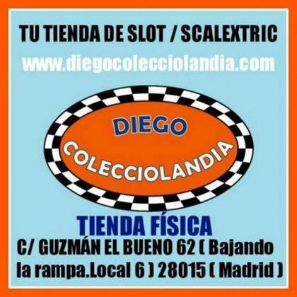 TIENDA SCALEXTRIC MADRID  DIEGO COLECCIOLANDIA  TIENDA SLOT MADRID