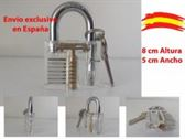 Candado transparente lock picking