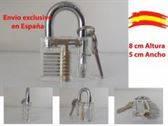 Candado transparente lock picking