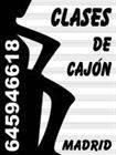 CAJÓN CLASES PARTICULARES, TODOS LOS ESTILOS, EXPERIENCIA DOCENTE