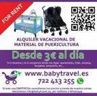 BABYTRAVEL - ALQUILER VACACIONAL DE CUNAS, TRONAS, SILLAS DE PASEO....