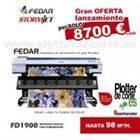 OFERTA nueva impresora de sublimacion de 190 cm profesional Fedar FD1900