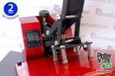 Prensa termica profesional con muelles DX38 vinilo transfer sublimacion 38x38 cm